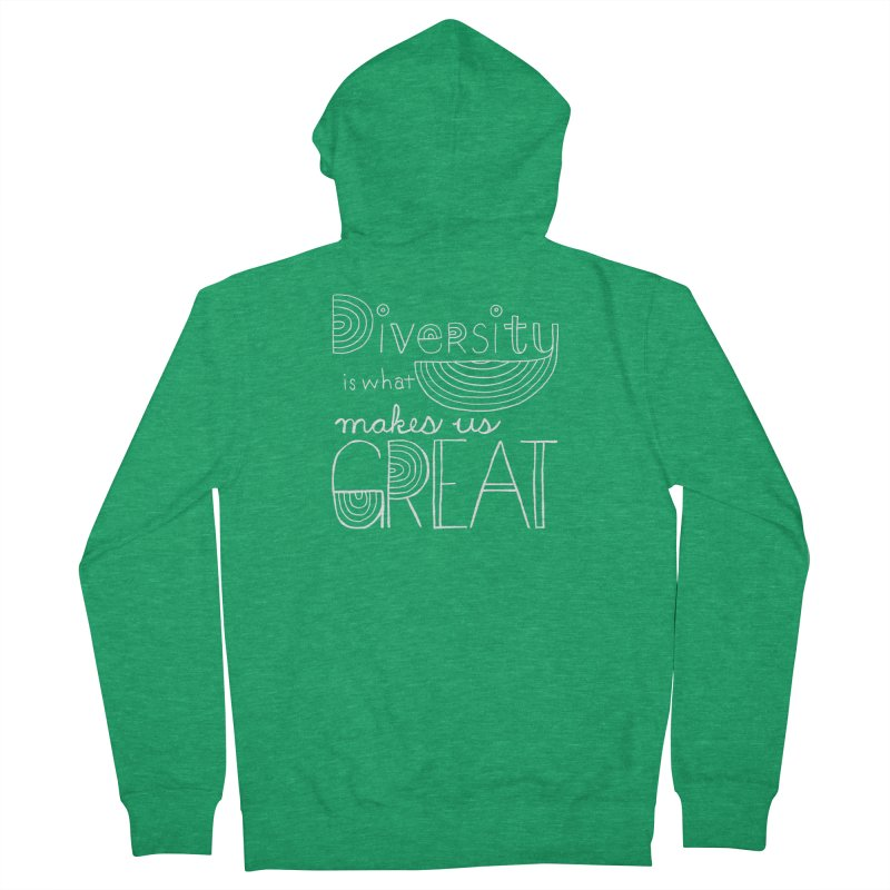 Diversity Makes Us Great - White Men's Zip-Up Hoody by April Marie Mai's Shop