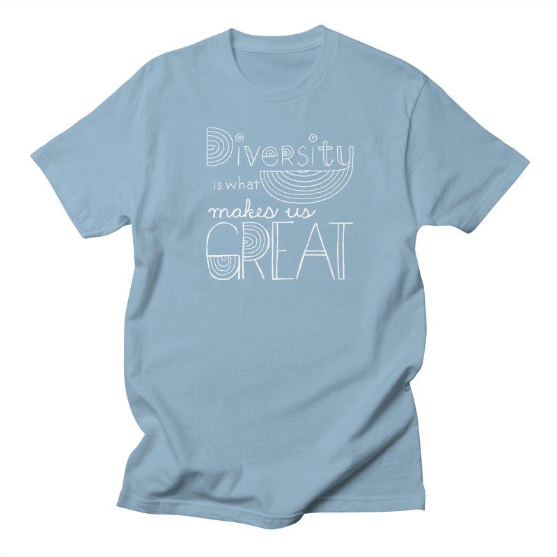 Diversity Makes Us Great - White Men's T-shirt by April Marie Mai's Shop
