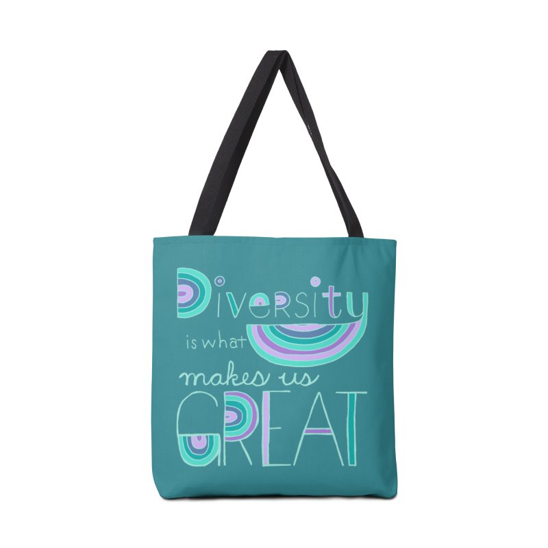 Diversity is What Makes Us Great - Teal Accessories Bag by April Marie Mai's Shop