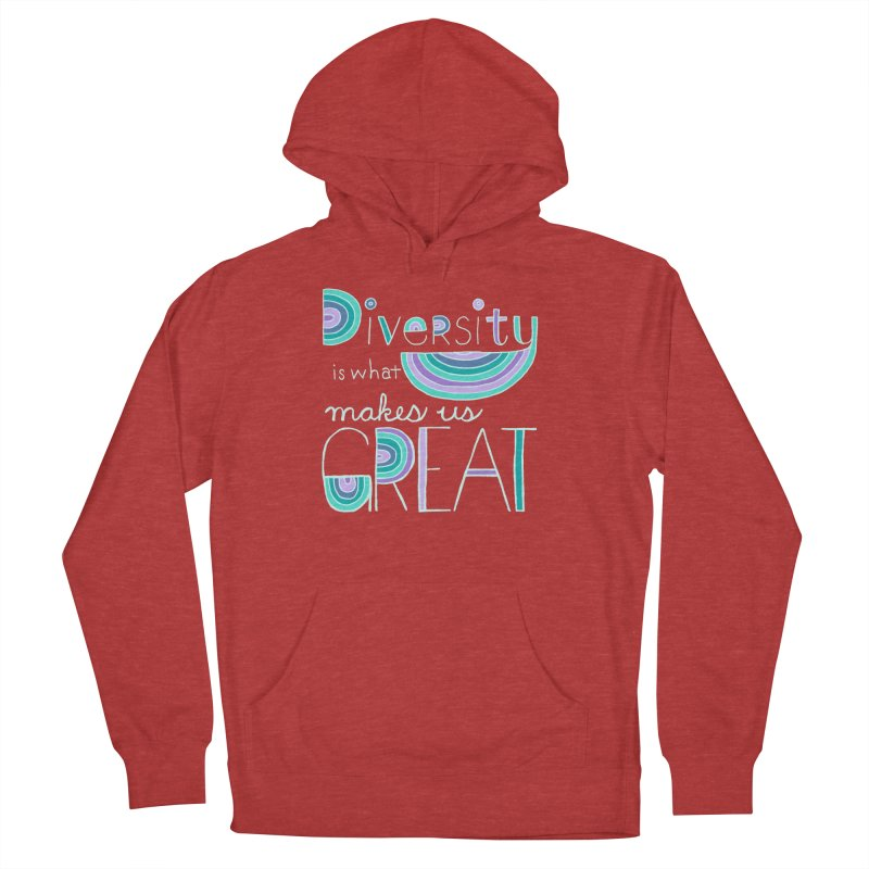 Diversity is What Makes Us Great - Teal Men's Pullover Hoody by April Marie Mai's Shop