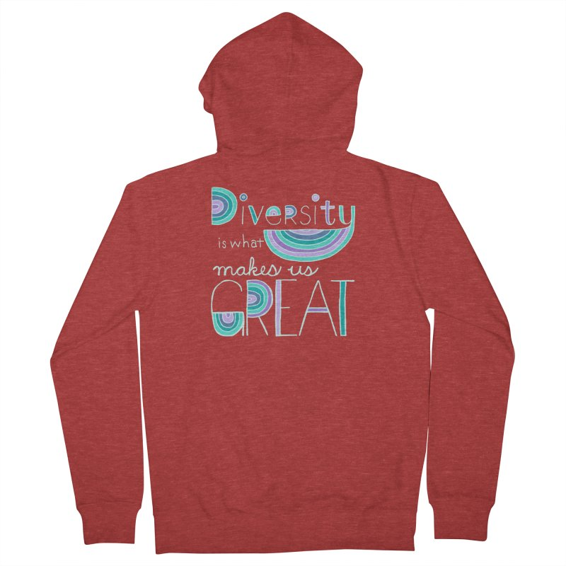 Diversity is What Makes Us Great - Teal Men's Zip-Up Hoody by April Marie Mai's Shop