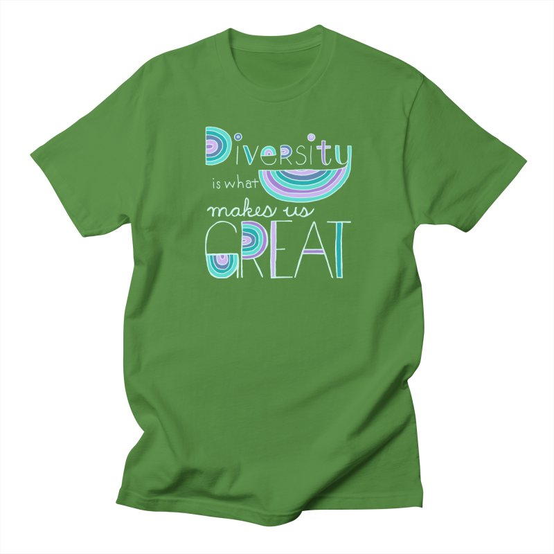 Diversity is What Makes Us Great - Teal Men's Regular T-Shirt by April Marie Mai's Shop