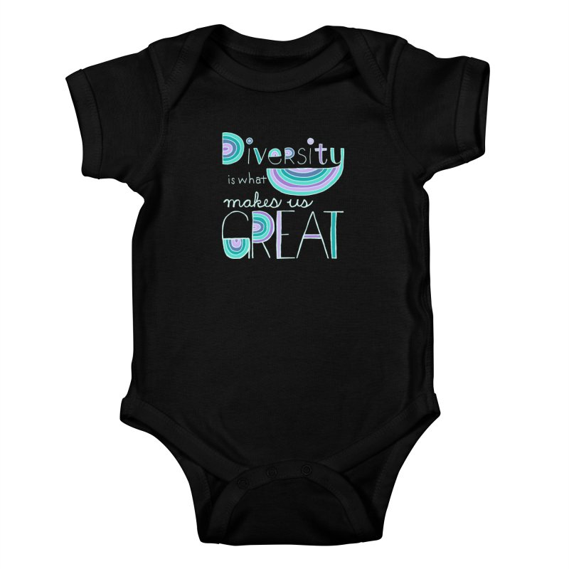 Diversity is What Makes Us Great - Teal Kids Baby Bodysuit by April Marie Mai's Shop
