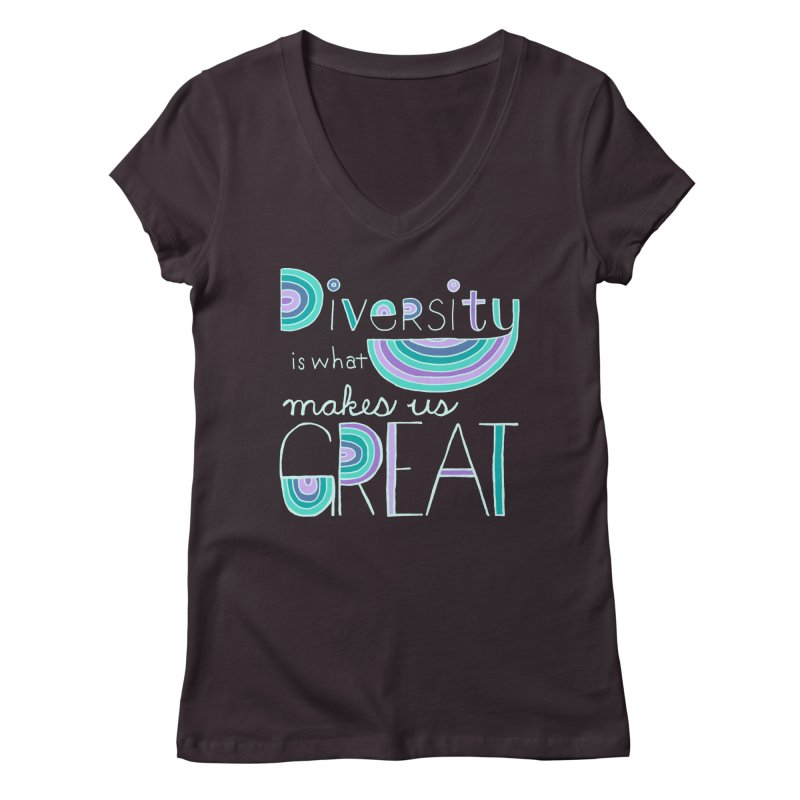 Diversity is What Makes Us Great - Teal   by April Marie Mai's Shop