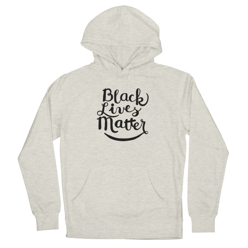 Black Lives Matter - Black Text Men's Pullover Hoody by April Marie Mai's Shop