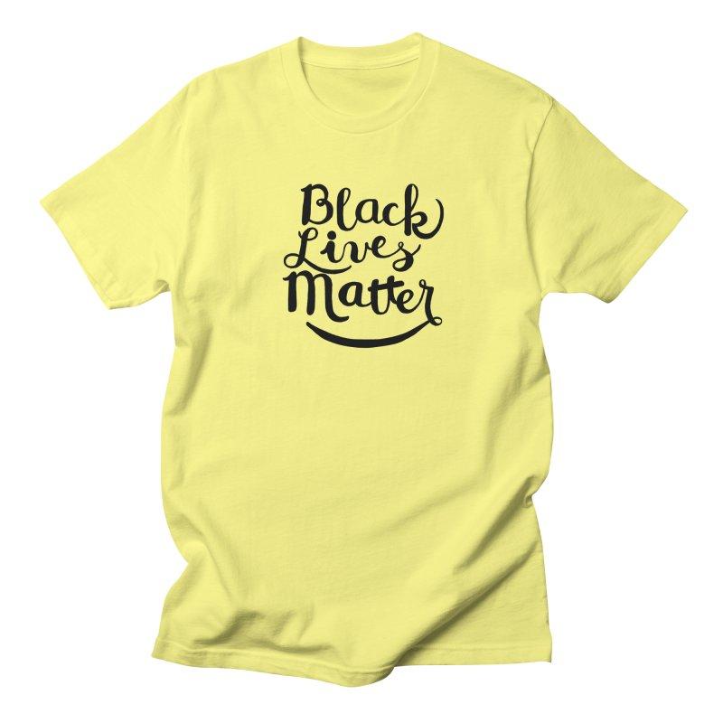 Black Lives Matter - Black Text Men's T-shirt by April Marie Mai's Shop