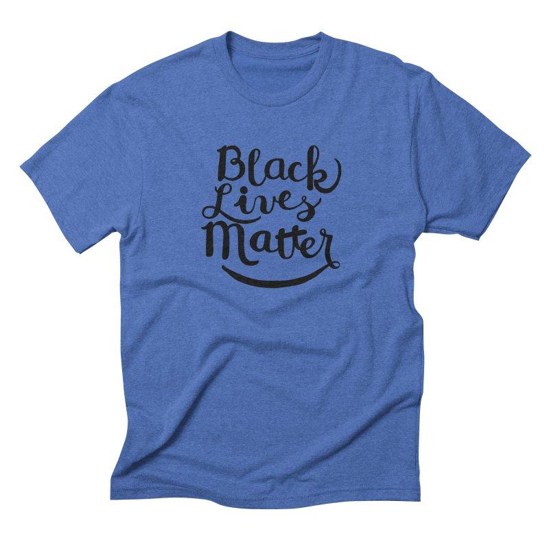 Black Lives Matter - Black Text Men's Triblend T-shirt by April Marie Mai's Shop