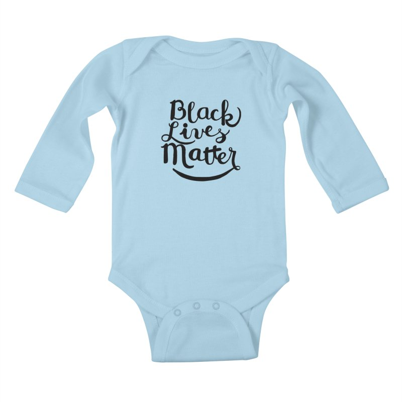 Black Lives Matter - Black Text Kids Baby Longsleeve Bodysuit by April Marie Mai's Shop