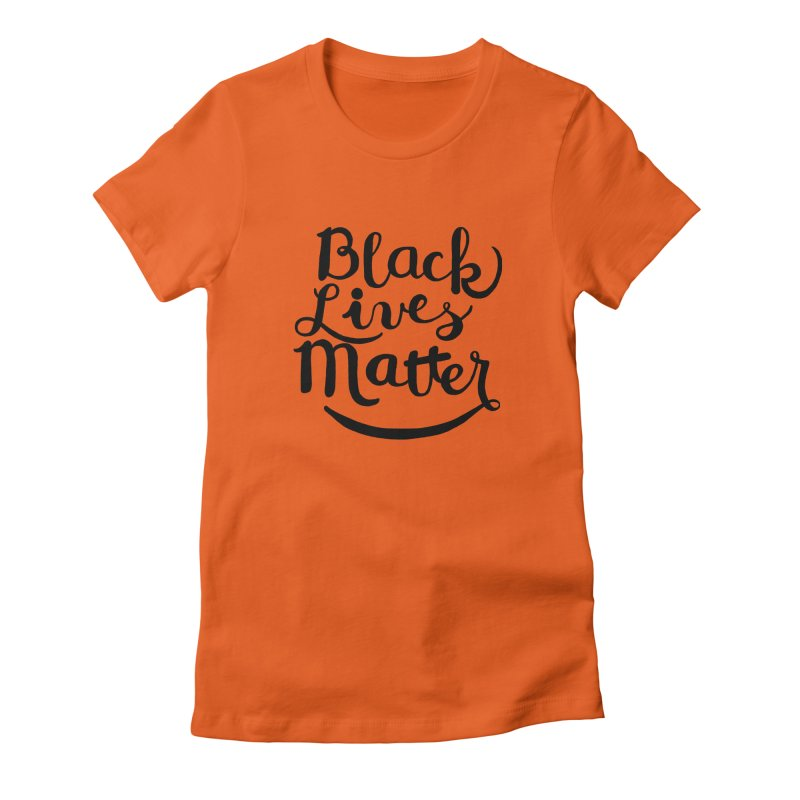 Black Lives Matter - Black Text Women's Fitted T-Shirt by April Marie Mai's Shop