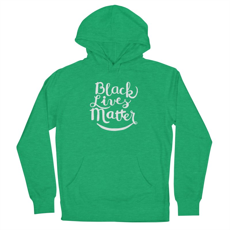 Black Lives Matter - White Text Women's Pullover Hoody by April Marie Mai's Shop