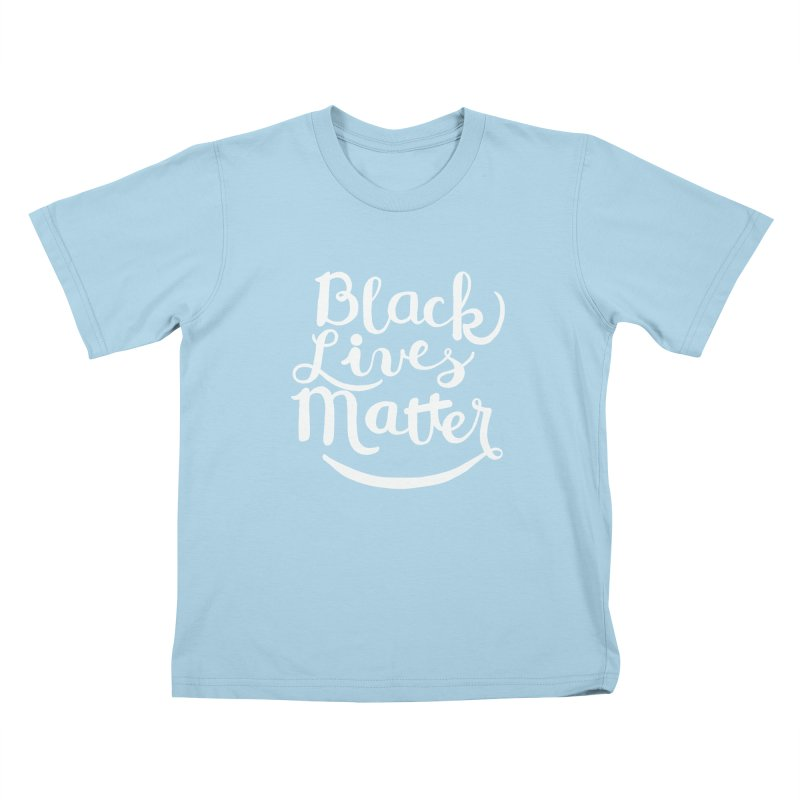 Black Lives Matter - White Text Kids T-shirt by April Marie Mai's Shop
