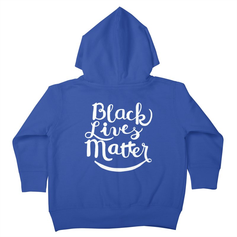 Black Lives Matter - White Text Kids Toddler Zip-Up Hoody by April Marie Mai's Shop