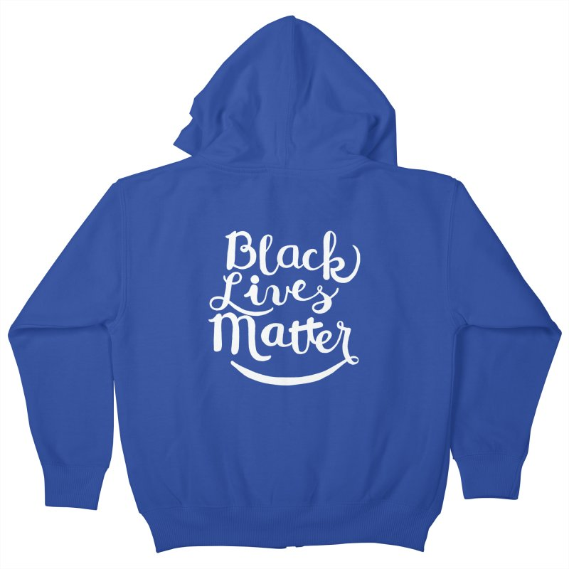 Black Lives Matter - White Text Kids Zip-Up Hoody by April Marie Mai's Shop