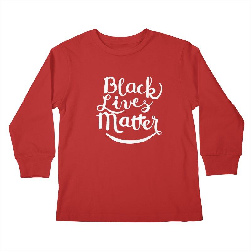 Black Lives Matter - White Text Kids Longsleeve T-Shirt by April Marie Mai's Shop