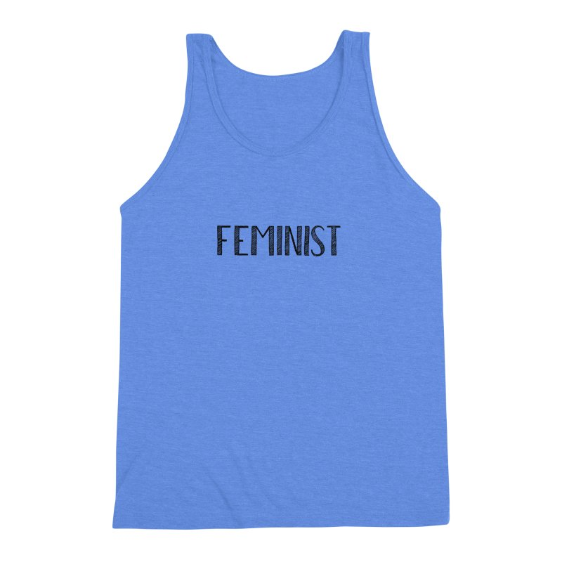 Feminist in Black Men's Triblend Tank by April Marie Mai's Shop