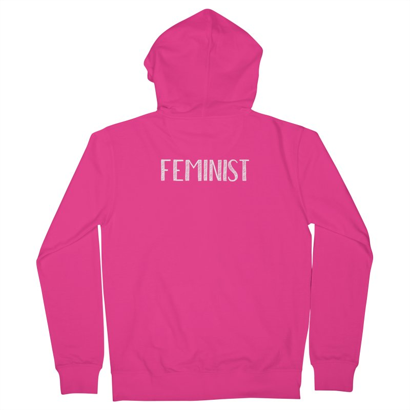 Feminist in White Men's French Terry Zip-Up Hoody by April Marie Mai's Shop