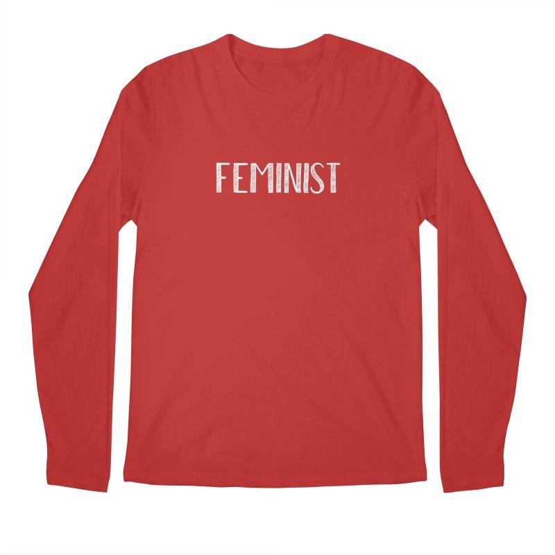 Feminist in White Men's Longsleeve T-Shirt by April Marie Mai's Shop