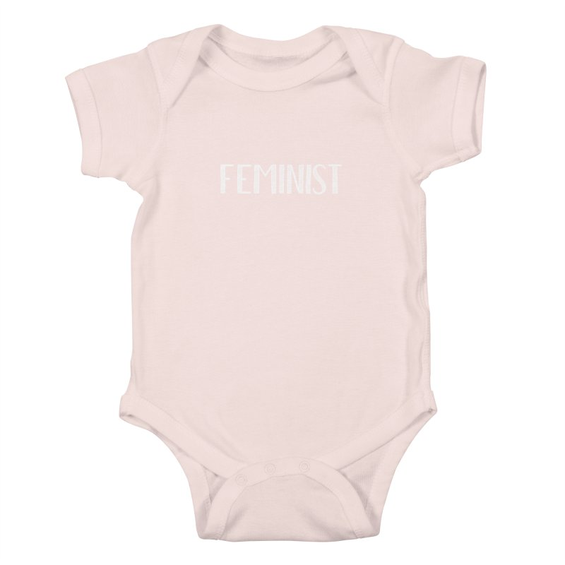 Feminist in White Kids Baby Bodysuit by April Marie Mai's Shop