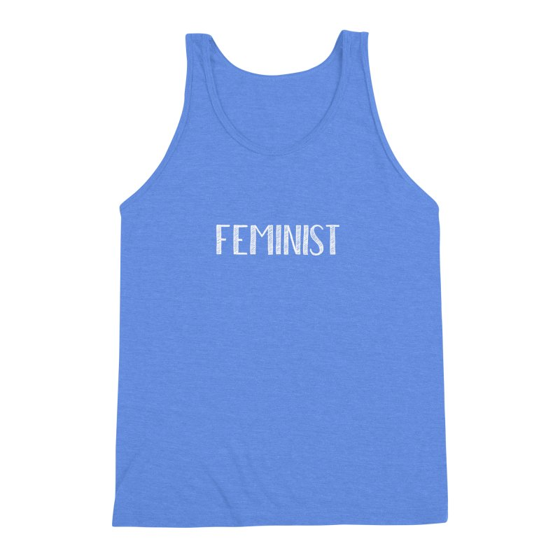 Feminist in White Men's Triblend Tank by April Marie Mai's Shop