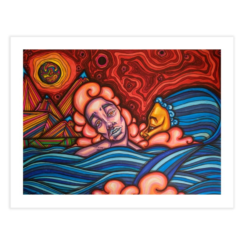 Red Sky Home Fine Art Print by ARIOM