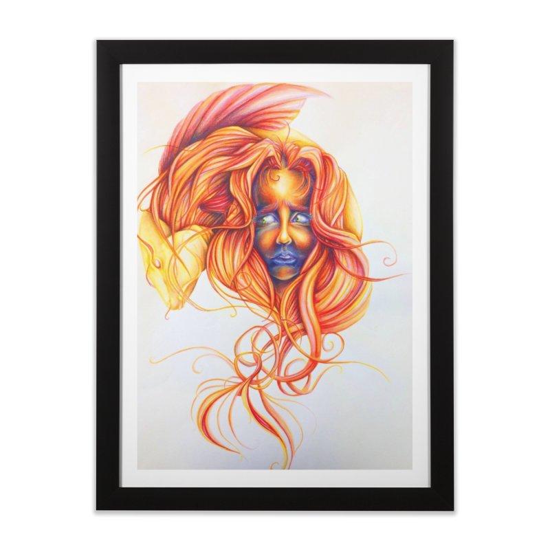 Fish Head Home Framed Fine Art Print by ARIOM
