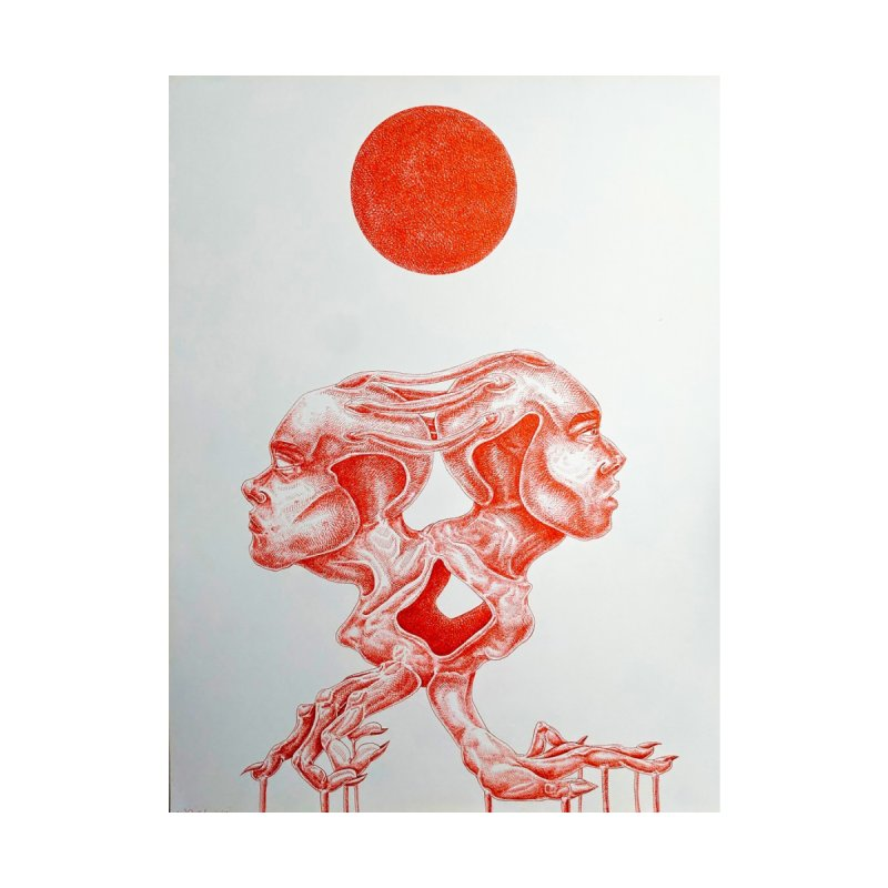 Under The Red Sun Home Fine Art Print by ARIOM