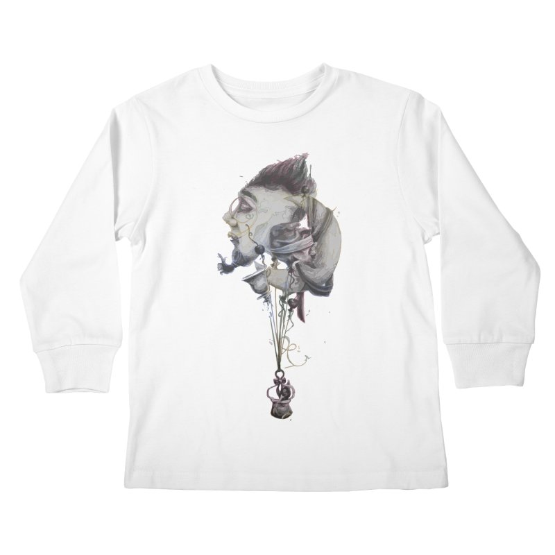 UNUSUAL BALLOONS Kids Longsleeve T-Shirt by ARIOM