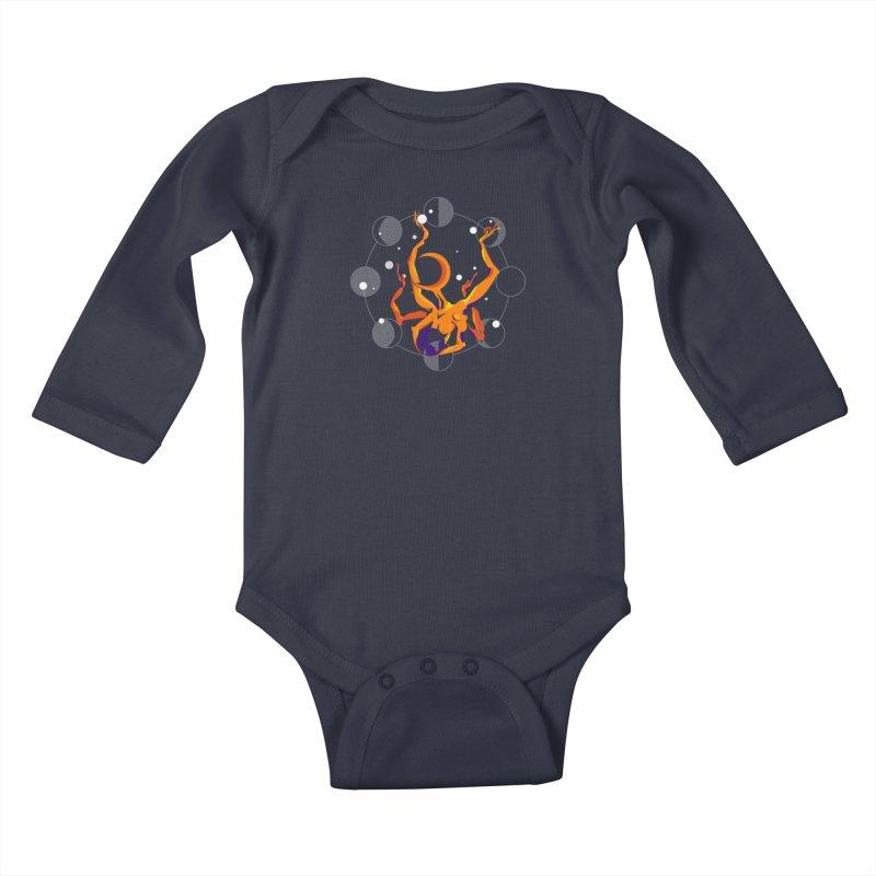 GODDESS OF THE MOON Kids Baby Longsleeve Bodysuit by ARIOM