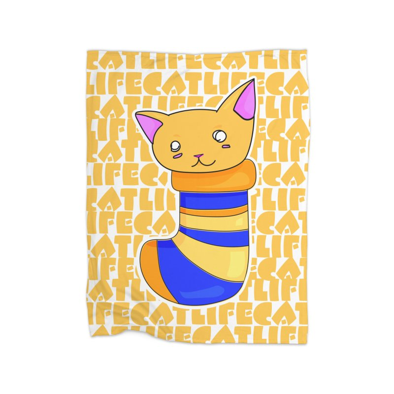 Cat Life - Animals In Socks Home Blanket by ARIOM