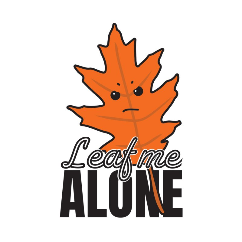 Leaf Me Alone Kids Longsleeve T-Shirt by ARIOM