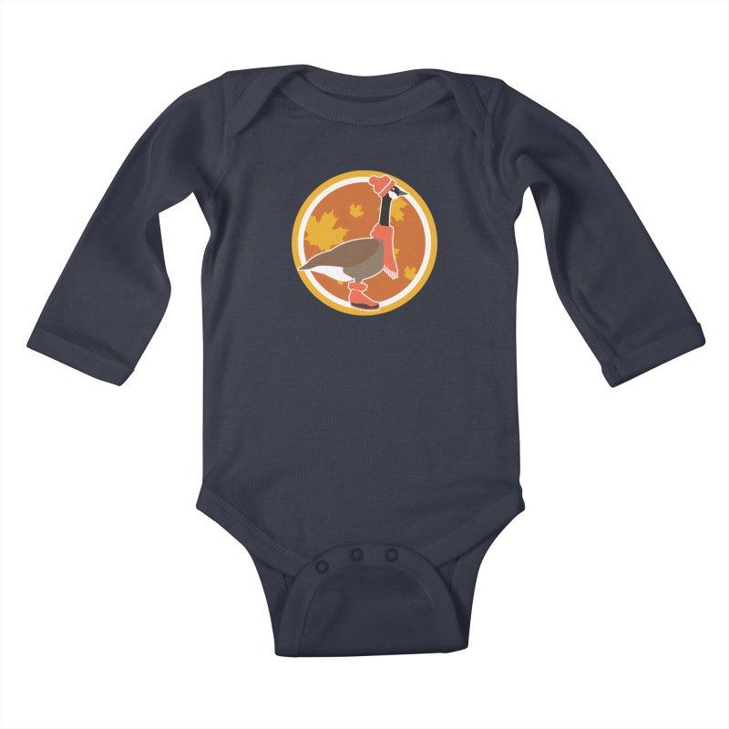 Goose Season Kids Baby Longsleeve Bodysuit by ARIOM