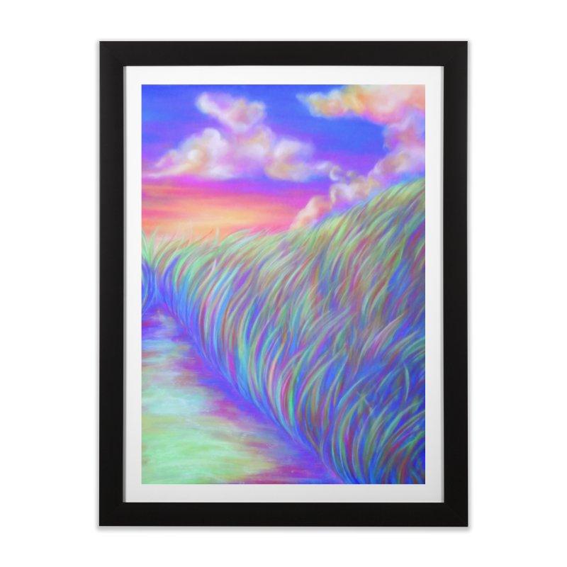 Chalk Pastel Landscape Print Home Framed Fine Art Print by ARIOM