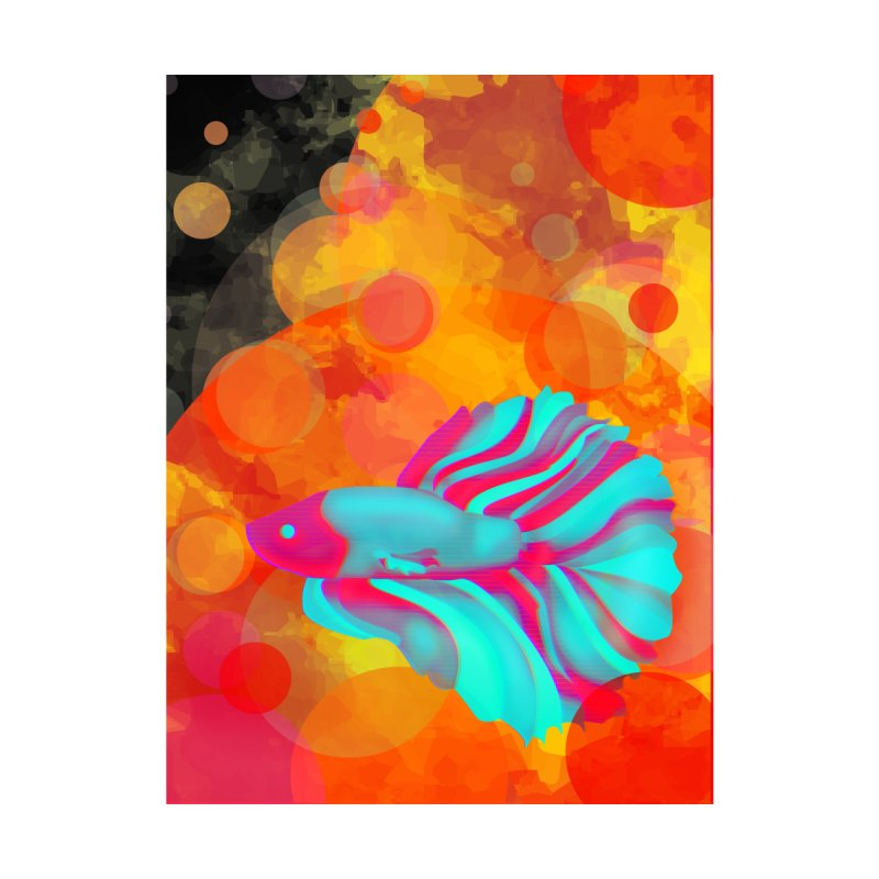 Neon Fish Home Fine Art Print by ARIOM