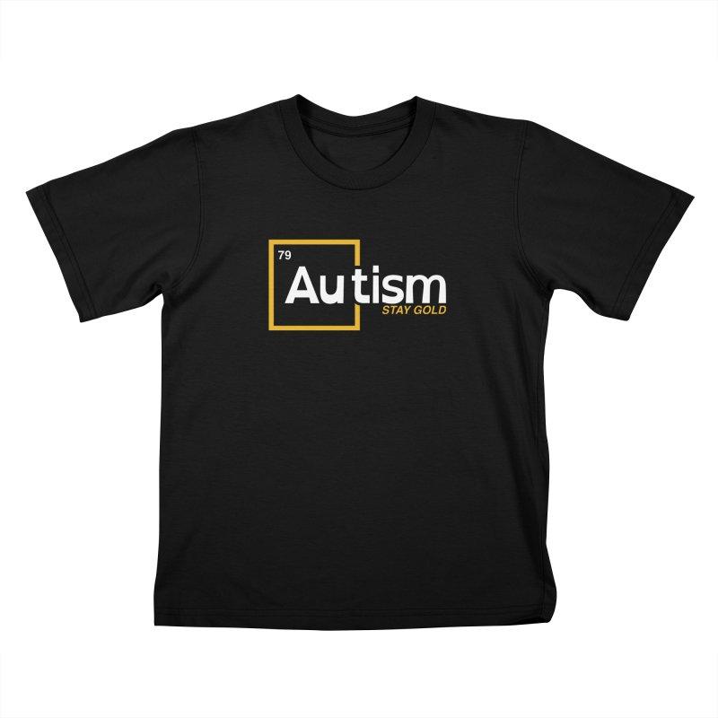 Discover Autistic Gold Kids T-Shirt by #AutiWear | Arizona Autism's Merch Shop