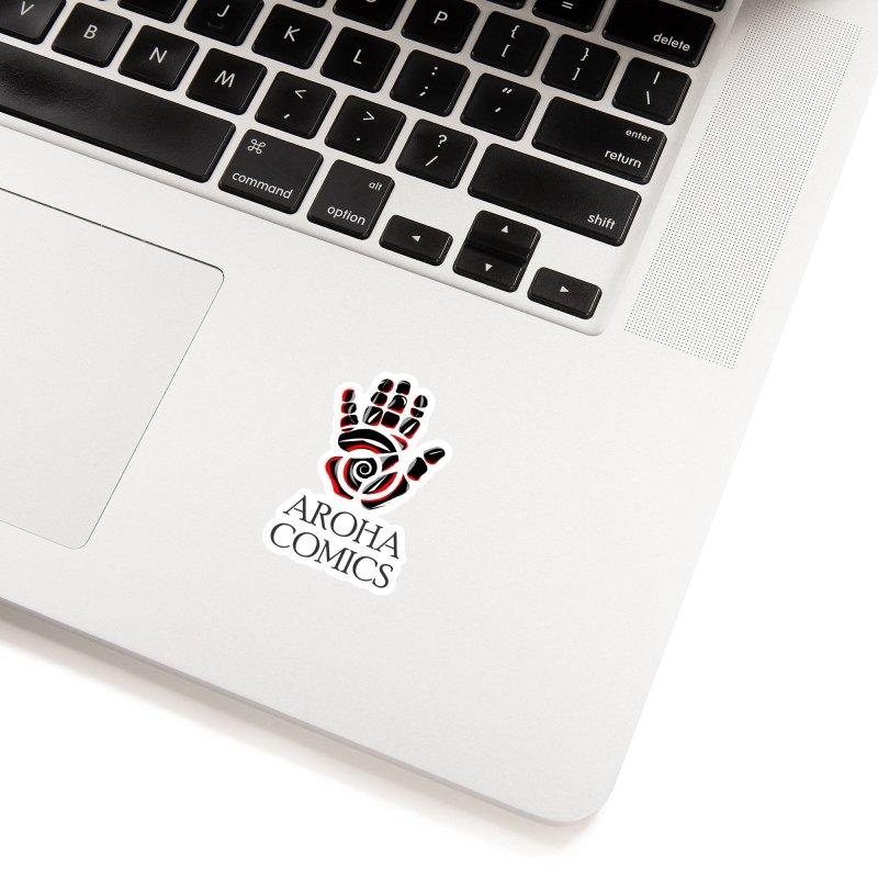 Aroha Comics Red/Black logo Accessories Sticker by Aroha Comics Artist Shop