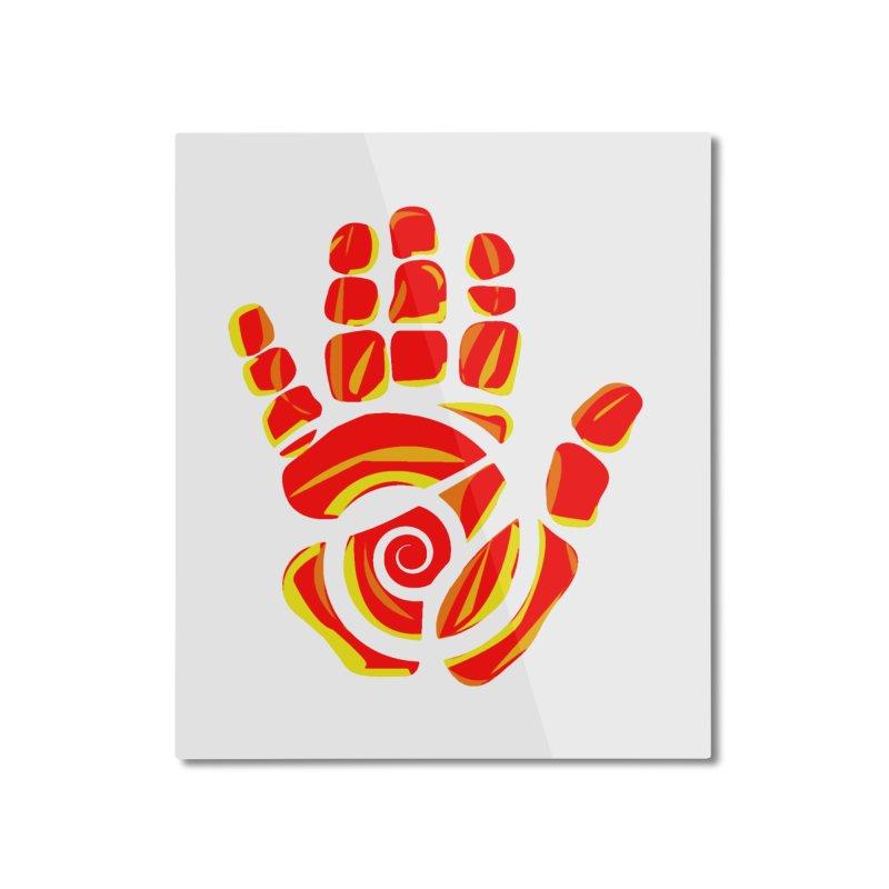 Aroha Comics Red/Orange logo Home Mounted Aluminum Print by Aroha Comics Artist Shop