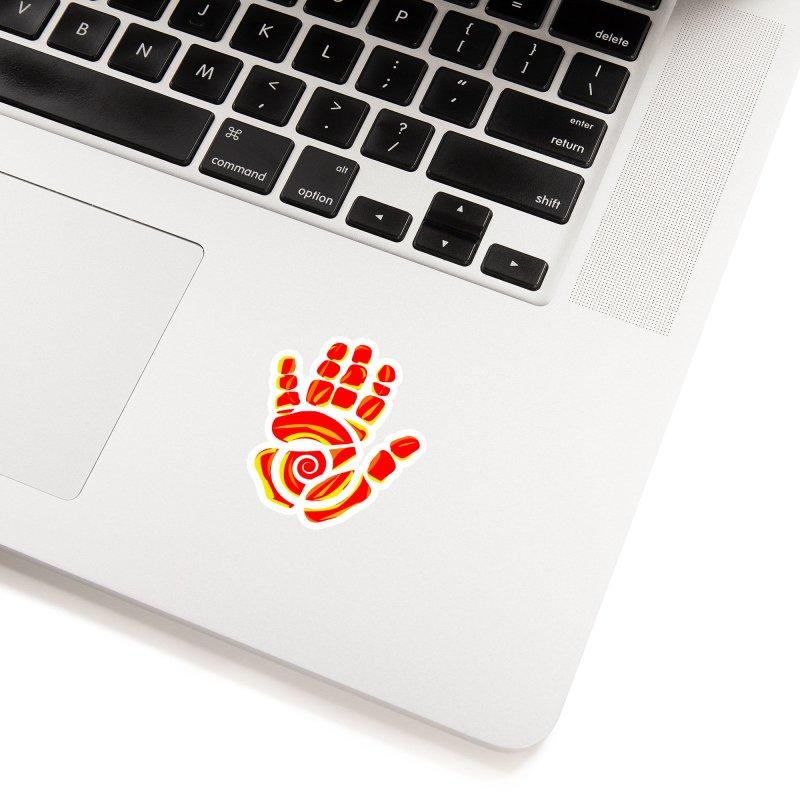 Aroha Comics Red/Orange logo Accessories Sticker by Aroha Comics Artist Shop