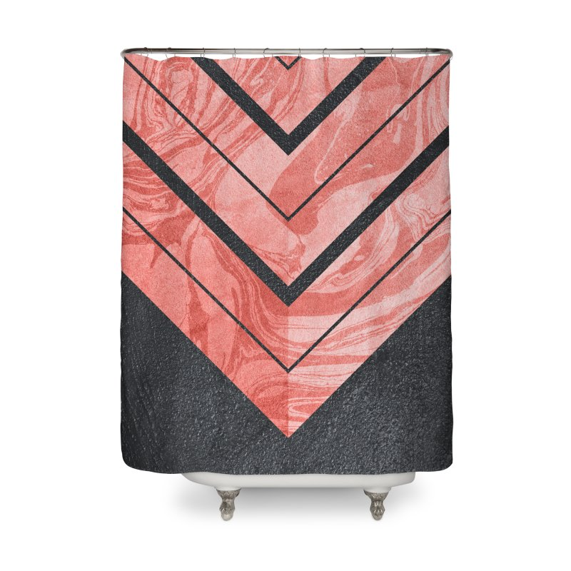 Geometric XXXXI Home Shower Curtain by Art Design Works