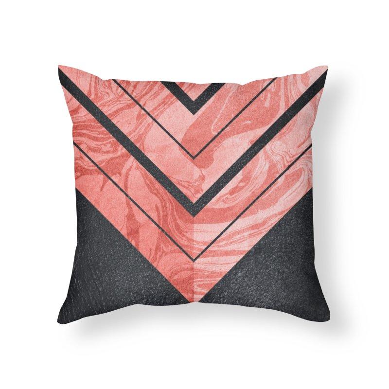 Geometric XXXXI Home Throw Pillow by Art Design Works
