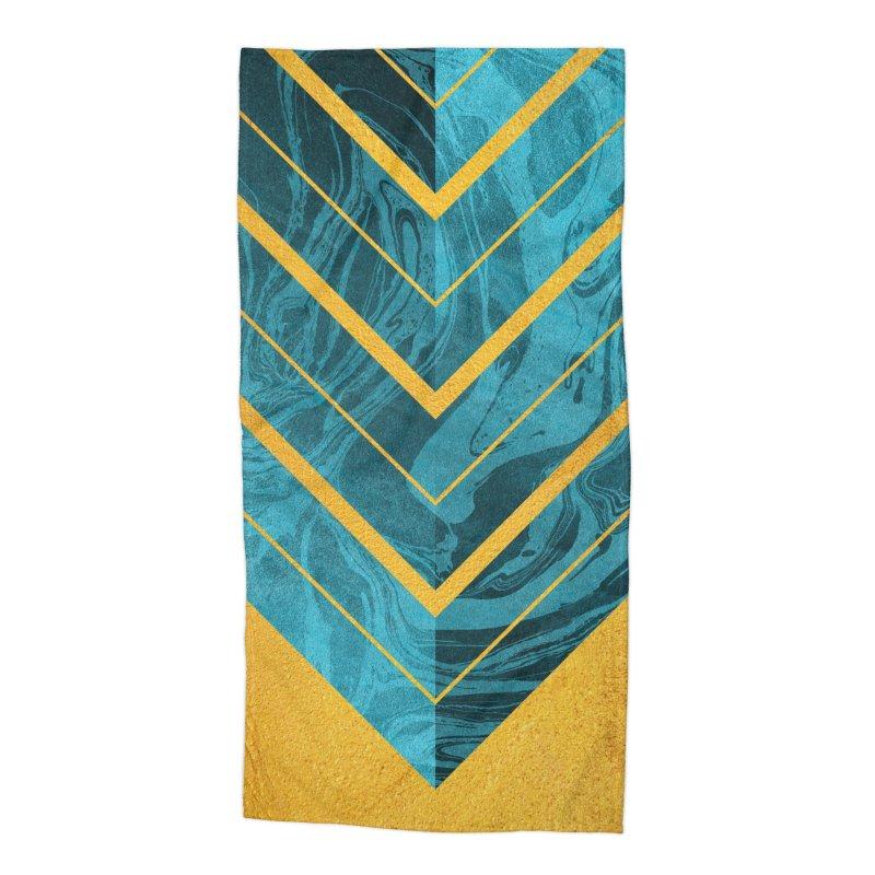 Geometric XXXXII Accessories Beach Towel by Art Design Works