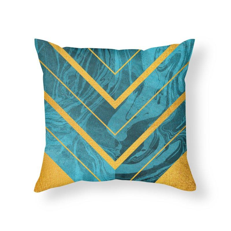 Geometric XXXXII Home Throw Pillow by Art Design Works