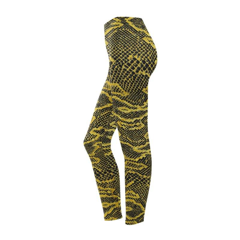 Black and Gold Snake Skin Women's Bottoms by Art Design Works