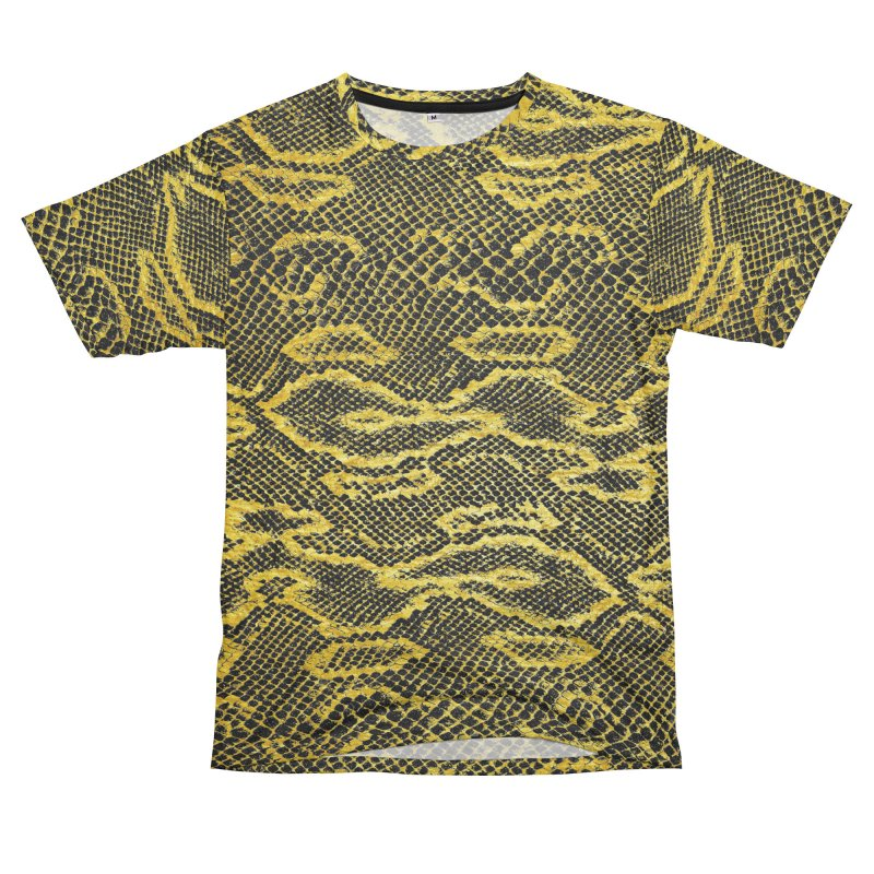 Black and Gold Snake Skin Men's Cut & Sew by Art Design Works