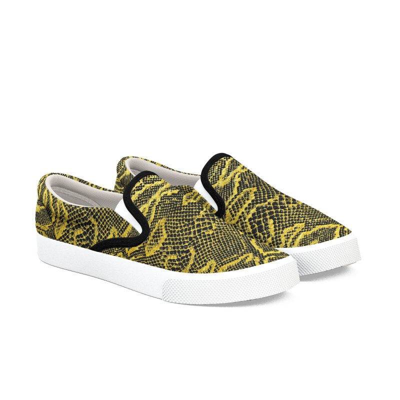 Black and Gold Snake Skin Men's Shoes by Art Design Works