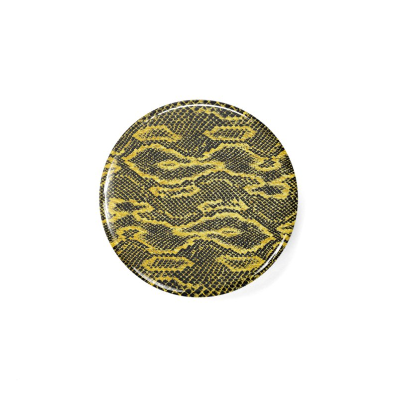 Black and Gold Snake Skin Accessories Button by Art Design Works