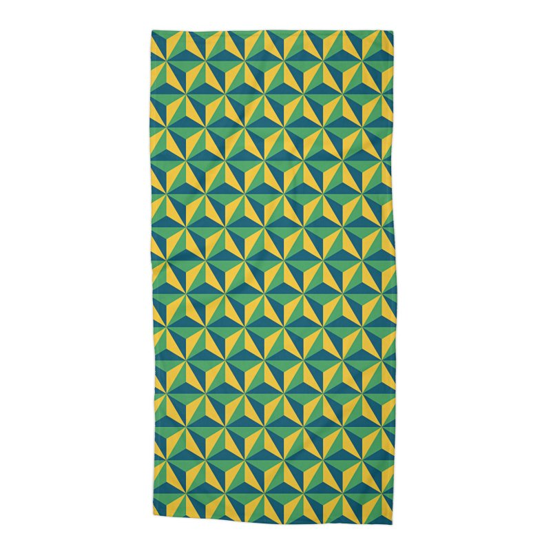 Geometric Pattern Accessories Beach Towel by Art Design Works