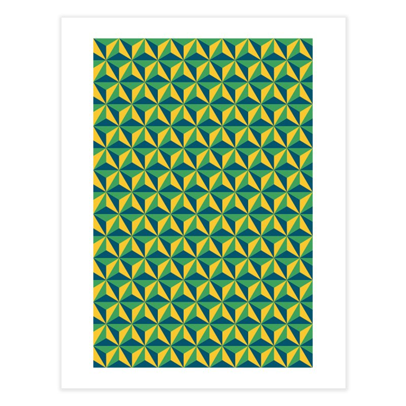 Geometric Pattern Home Fine Art Print by Art Design Works