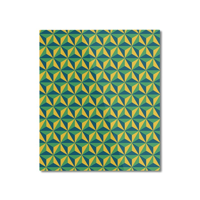 Geometric Pattern Home Mounted Aluminum Print by Art Design Works