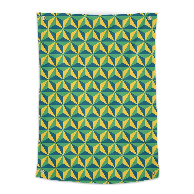 Geometric Pattern Home Tapestry by Art Design Works
