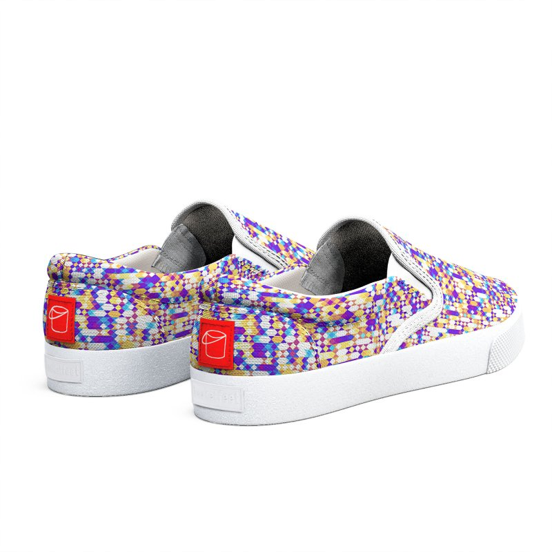 Colorful Geometric Pattern Women's Shoes by Art Design Works